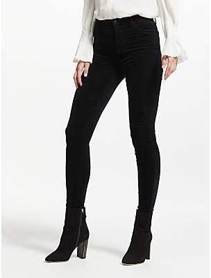 J Brand Maria Velvet High Rise Skinny Jeans