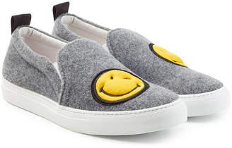 Joshua Sanders Felted Wool Slip On Sneakers