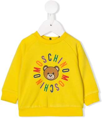 Moschino Kids teddy logo print sweatshirt