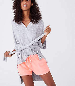 Lou & Grey Garment Dye Terry Drawstring Shorts