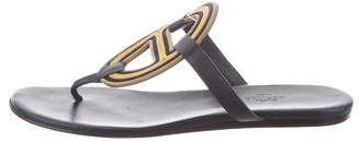 Hermes Leather Thong Sandals