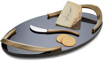 Nambe Eco Handled Cheese Board With Knife