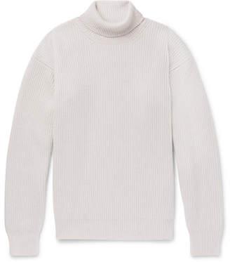 Bottega Veneta Ribbed Cashmere Rollneck Sweater - Cream