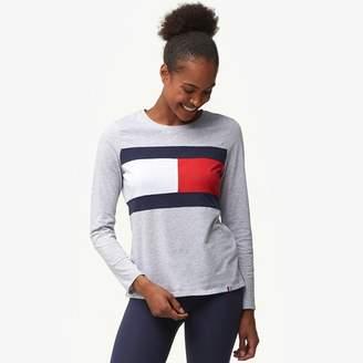 Tommy Hilfiger Flag Colorblock Long Sleeve T-Shirt - Women's