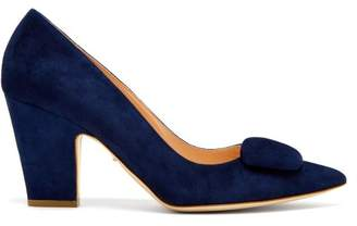 Rupert Sanderson Pierrot Suede Pumps - Womens - Navy