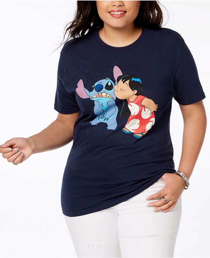 Plus Size Cotton Lilo & Stitch T-Shirt
