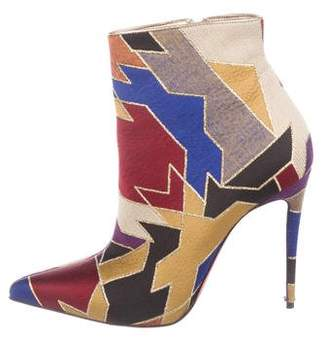 Christian Louboutin So Kate 100 Tissu Geometrique Booties