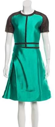 J. Mendel Gathered Satin Dress
