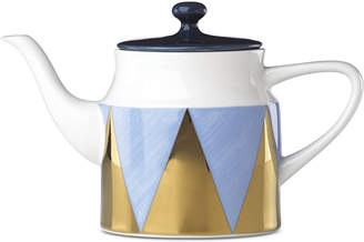 Lenox Luca Blue Azzurro Angles Teapot