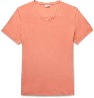 Onia Slim-Fit Cotton and Modal-Blend Jersey T-Shirt - Men - Coral