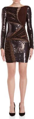 Emilio Pucci Sequin Lace-Up Mini Dress
