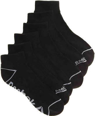 Reebok Quarter Ankle Socks - 6 Pack - Men's