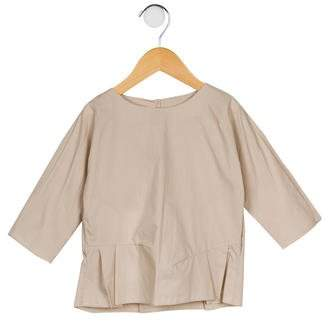 Marni Junior Girls' Crew Neck Peplum Top w/ Tags