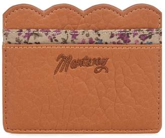 Mantaray Tan Scalloped Card Holder