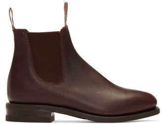 R.M. Williams Burgundy Comfort Craftsman Chelsea Boots