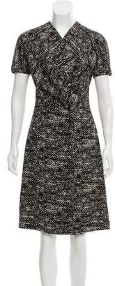 Bottega Veneta A-Line Printed Dress