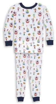 Kissy Kissy Toddler's& Little Boy's Two-Piece Buccaneers Print Pajamas