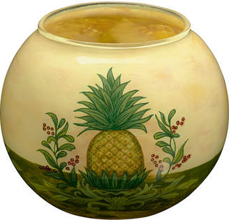 Precious Moments Ne Qwa Art Hand-Painted Glass Welcome Pineapple Candle Votive Holder