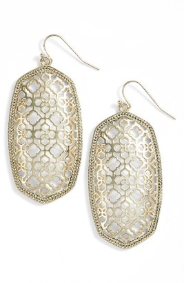 Women's Kendra Scott Danielle Large Openwork Statement Earrings $70 thestylecure.com