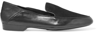Robert Clergerie - Fani Suede And Leather Loafers - Black $495 thestylecure.com