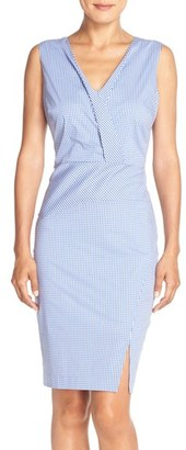 Women's Nydj 'Ophelia' Gingham Stretch Cotton Sheath Dress $148 thestylecure.com