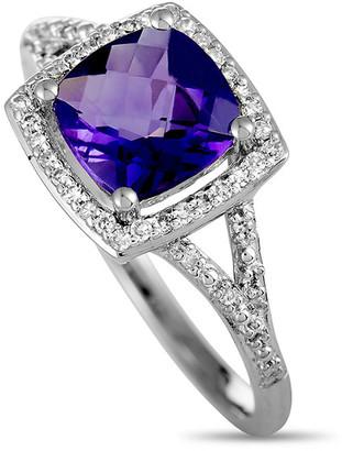 Generic Gemstones 14K 0.15 Ct. Tw. Diamond & Amethyst Ring