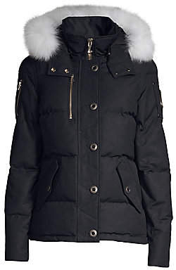 Moose Knuckles Women's Fox Fur-Trimmed Hooded 3Q Jacket