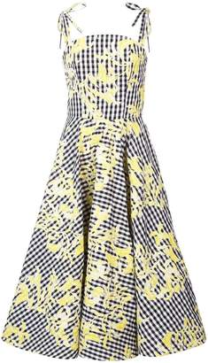 Christian Siriano gingham full skirt dress