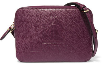 Lanvin - So Lanvin Embossed Textured-leather Shoulder Bag - Grape $1,250 thestylecure.com