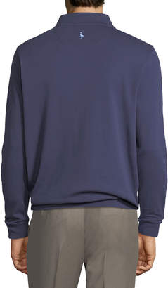 Tailorbyrd Men's Mock-Neck Jersey Sweatshirt, Navy
