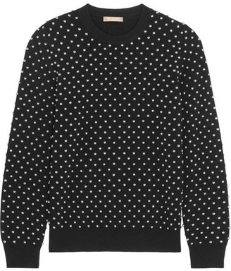 Michael Kors Collection - Studded Cashmere Sweater - Black $1,295 thestylecure.com