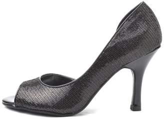 City Classified Sparkly Black Glitter Heel