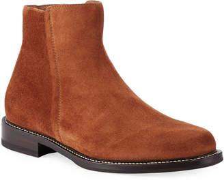 Brunello Cucinelli Men's Suede Side-Zip Boots