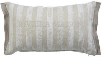 Sturdy Stripe Sand Rectangular Cushion