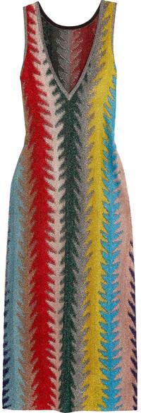 Missoni - Metallic Crochet-knit Maxi Dress - Yellow