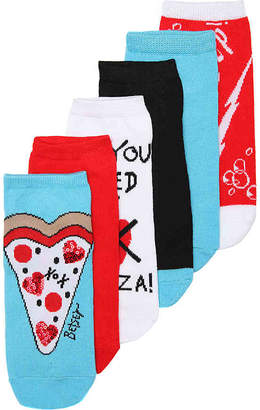 Betsey Johnson Pizza No Show Socks - 6 Pack - Women's