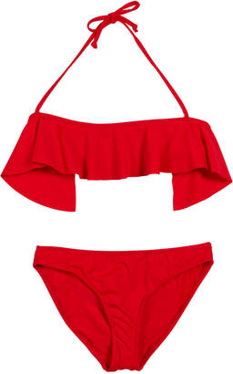 Milly Ruffle Top Two-Piece Swimsuit Size 7-16