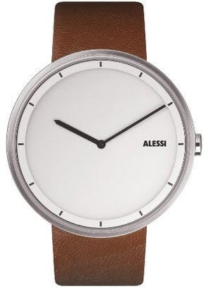 Alessi (アレッシー) - Alessiユニセックスal13001 Out Time BrownレザーStrap Watch
