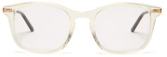 Gucci Square Frame Acetate Glasses - Mens - Clear