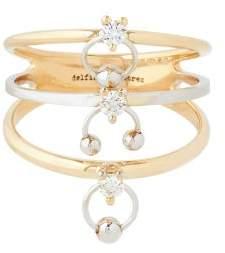Delfina Delettrez Diamond & 18kt Gold Ring - Womens - Gold