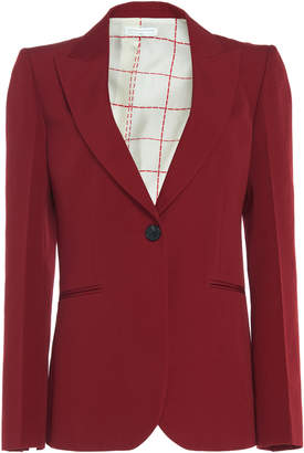 Victoria Beckham Virgin Wool Notched Lapel Blazer
