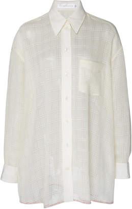 Victoria Beckham Checkered Voile Shirt