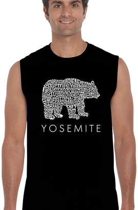 LOS ANGELES POP ART Los Angeles Pop Art Men's Word Art Yosemite Bear Sleeveless T-Shirt Big & Tall