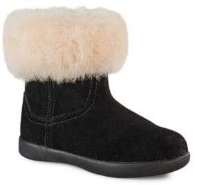 UGG Little Girl's Jorie Suede Collared Boots