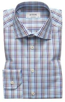 Eton Contemporary Fit Checked Button-Front Shirt