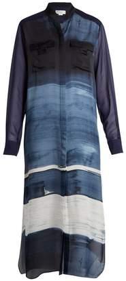 Amanda Wakeley Painterly silk-satin shirtdress
