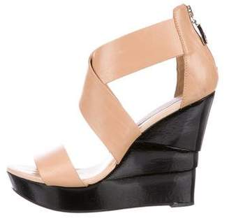 Diane von Furstenberg Leather Crossover Wedges