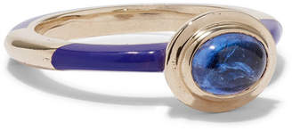 Alice Cicolini Candy 14-karat Gold And Enamel Tanzanite Ring