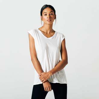 DSTLD Muscle Tee in Tissue White