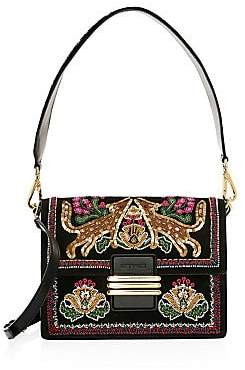 Etro Women's Embellished Fox Shoulder Bag